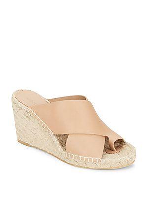 Vince Suraya Leather Crisscross Espadrille Wedge Sandals