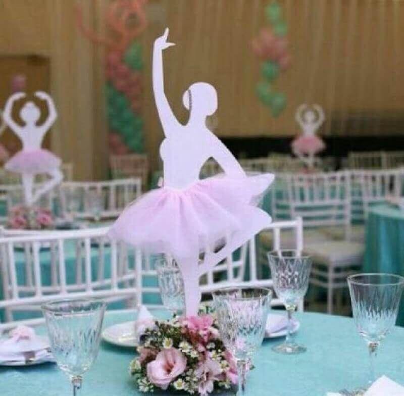 Decoração festa Bailarina Aniversário 1 ano Lindo Ballet