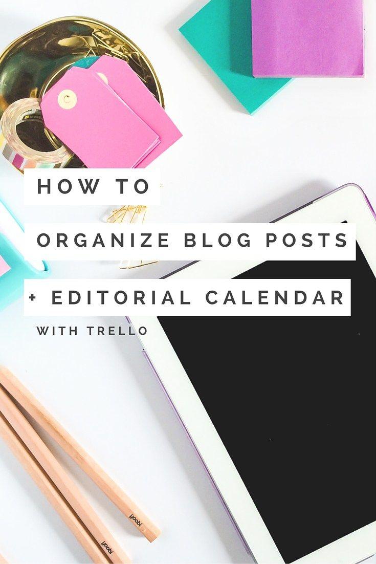 How to Organize Blog Ideas and Create an Editorial Calendar with Trello - The Shop Files