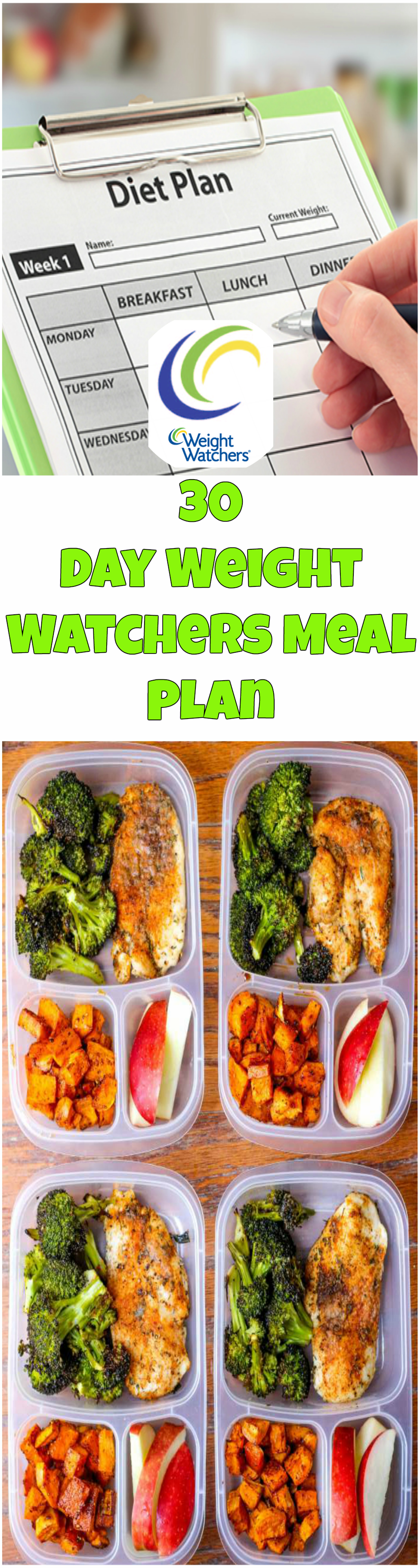 30 day weight watchers meal plan healthy living pinterest