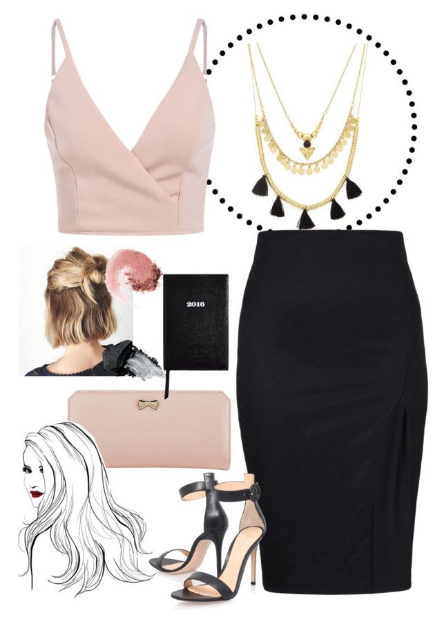 """""""PB"""" by jenamiller1214 ❤ liked on Polyvore featuring Forever 21, Gianvito Rossi, Zodaca, NARS Cosmetics, Gorgeous Cosmetics and Sloane Stationery"""