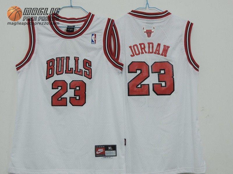 Canotte nba Bambino Chicago Bulls bianco Michael Jordan  23  19f44af679ab
