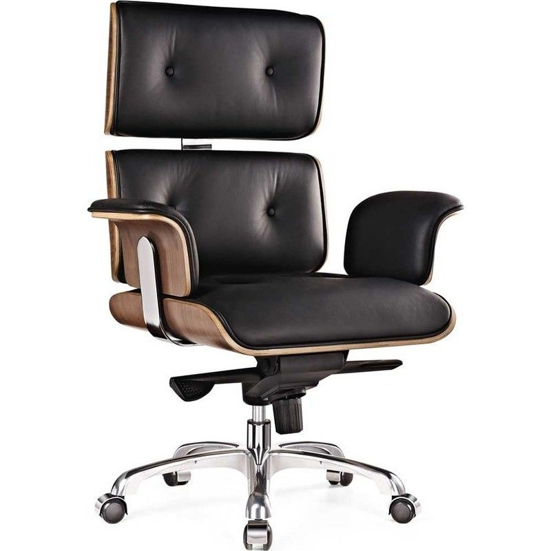Replica Eames Combo Leather Office Chair In Black Eames Office Chair Executive Office Chairs Luxury Office Chairs