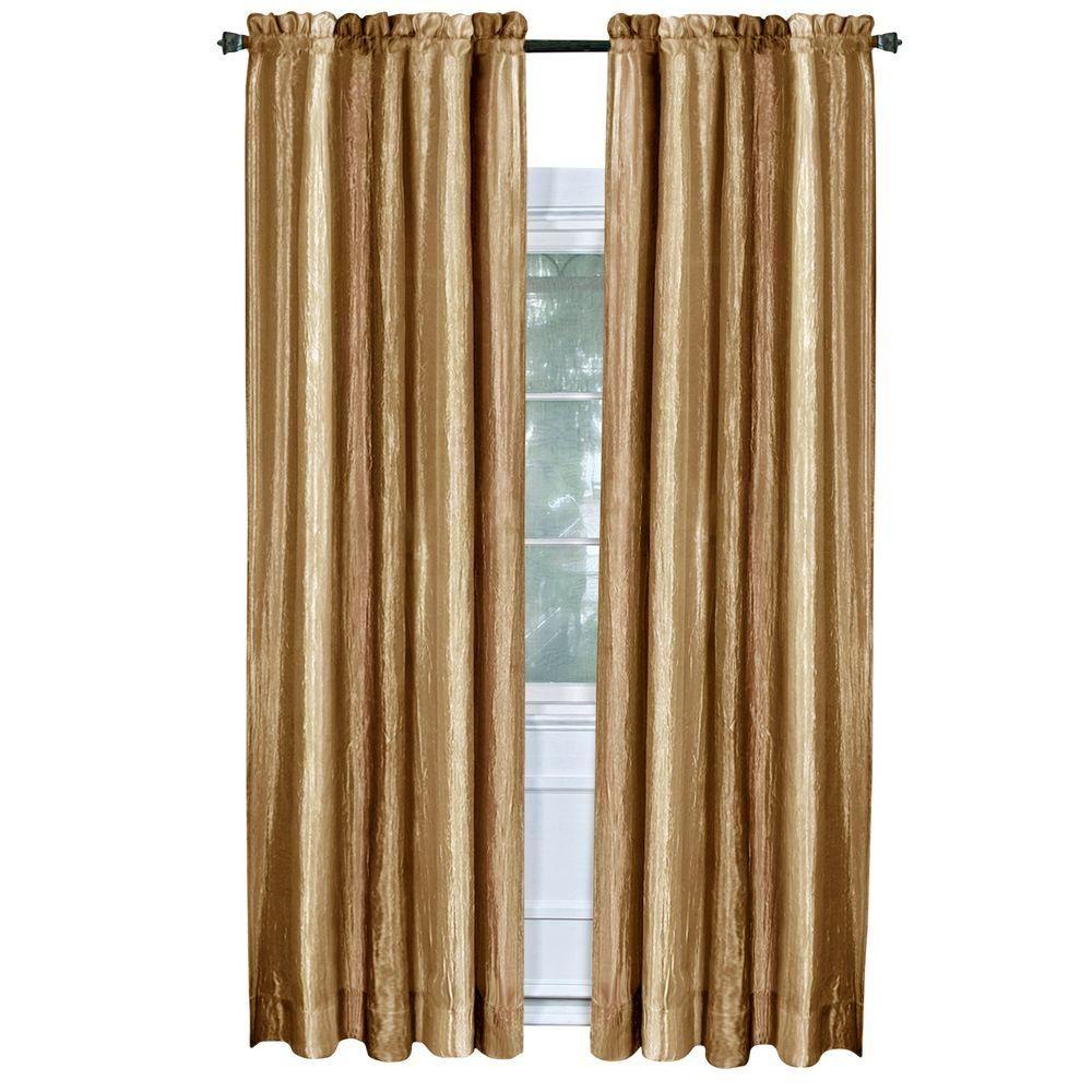 Achim Semi Opaque Ombre Sandstone Polyester Curtain Panel 50 In