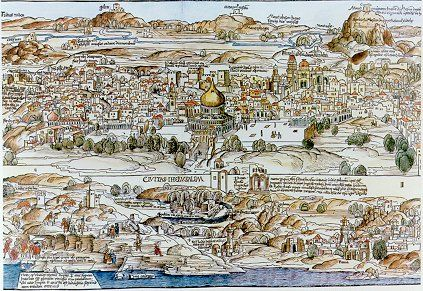 In 1483 Bernhard Von Breydenbach A Nobleman And Deacon Of Mainz Cathedral Germany Made A Pilgrimage To The Holy Land After R Travel Narrative Holy Land Map
