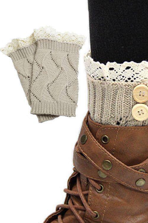 Taupe Boot Crochet Topper | cuellos gorros bufandas .. | Pinterest ...