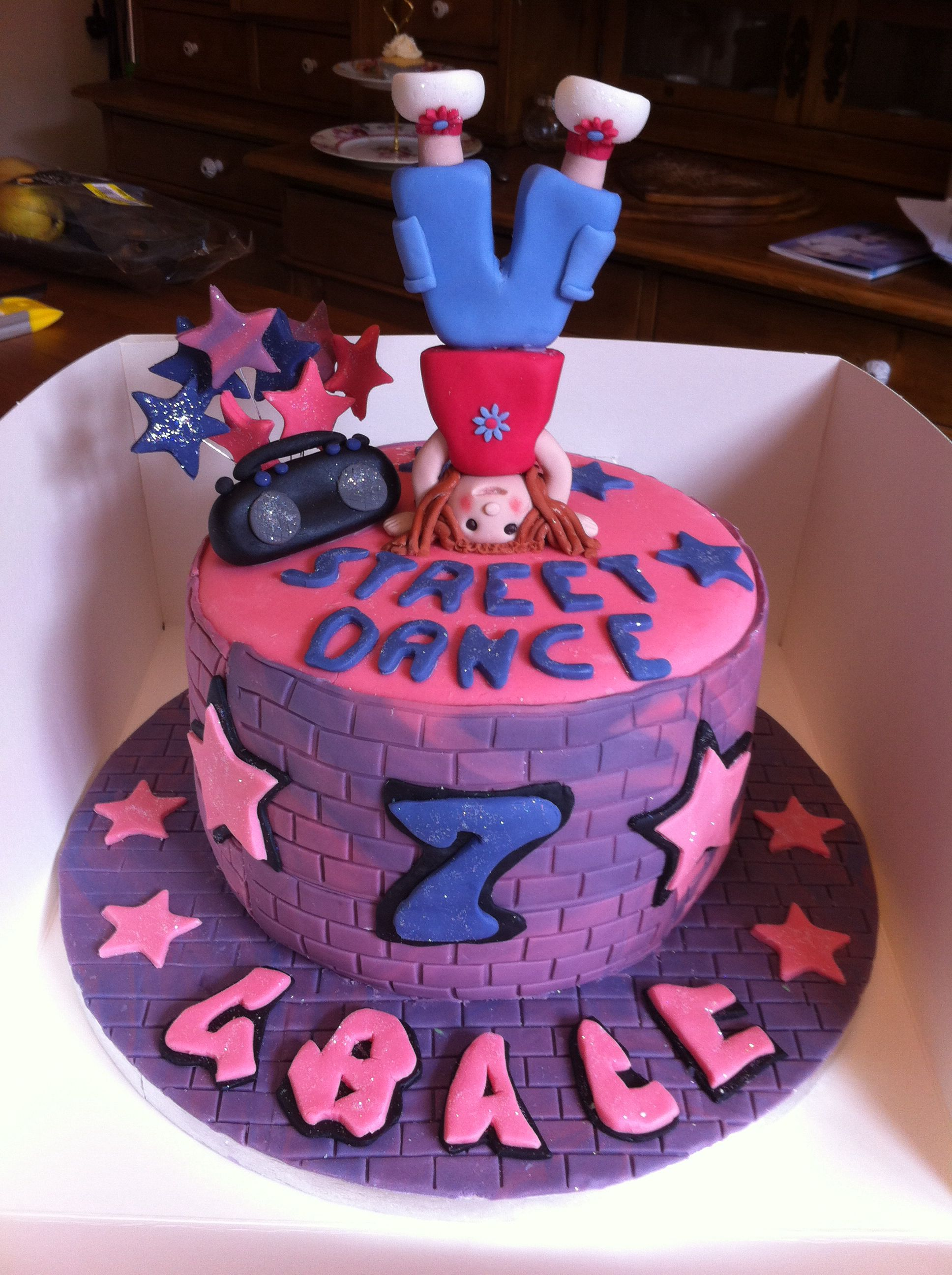 Street Dance Birthday Cake Cake Pinterest Cake Dance Cakes