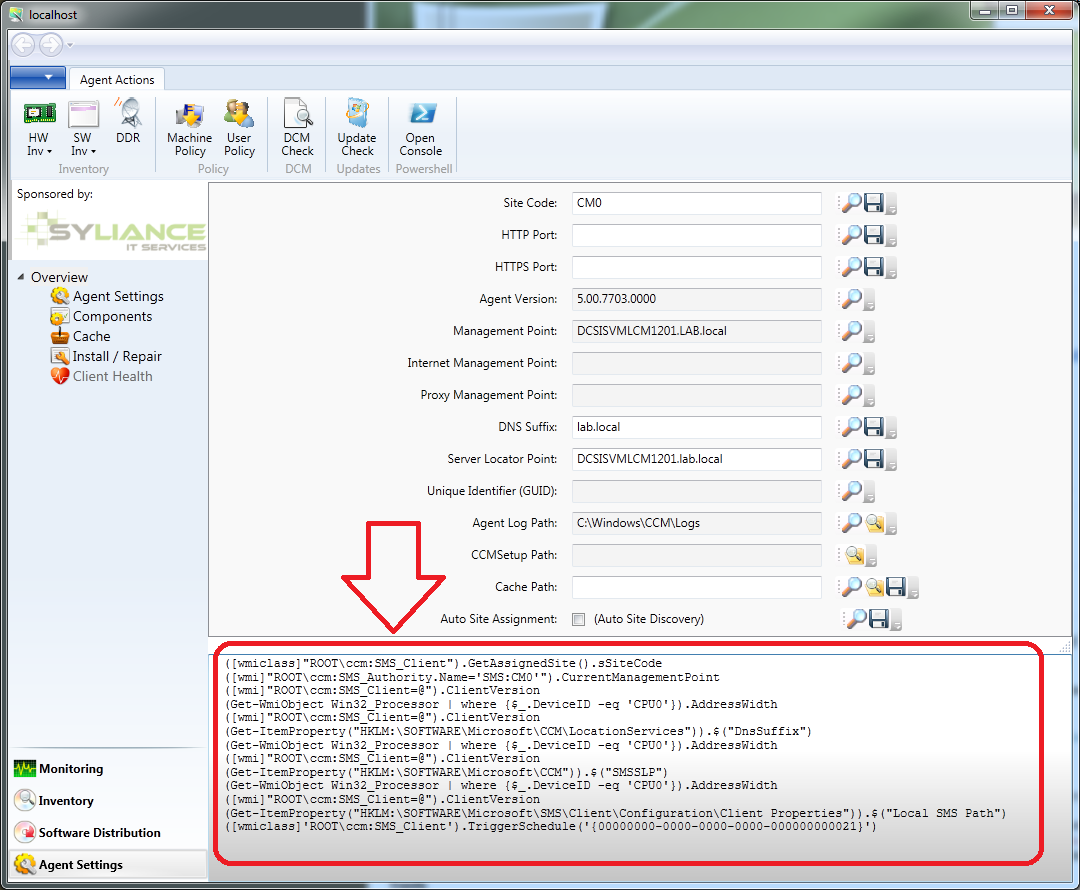 PowerShell commands to manage ConfigMgr 2012 Agents