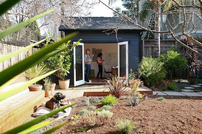 Annie Vought's Oakland studio - I could make pots in such a studio!