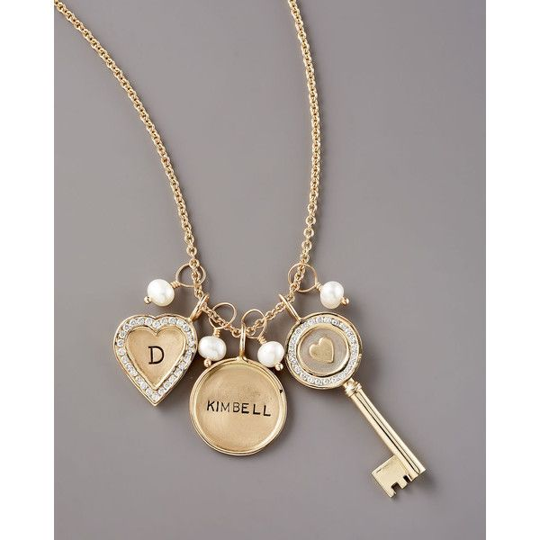 Heather Moore Initial Channel-Set Small Heart Charm ($3,365) ❤ liked on Polyvore