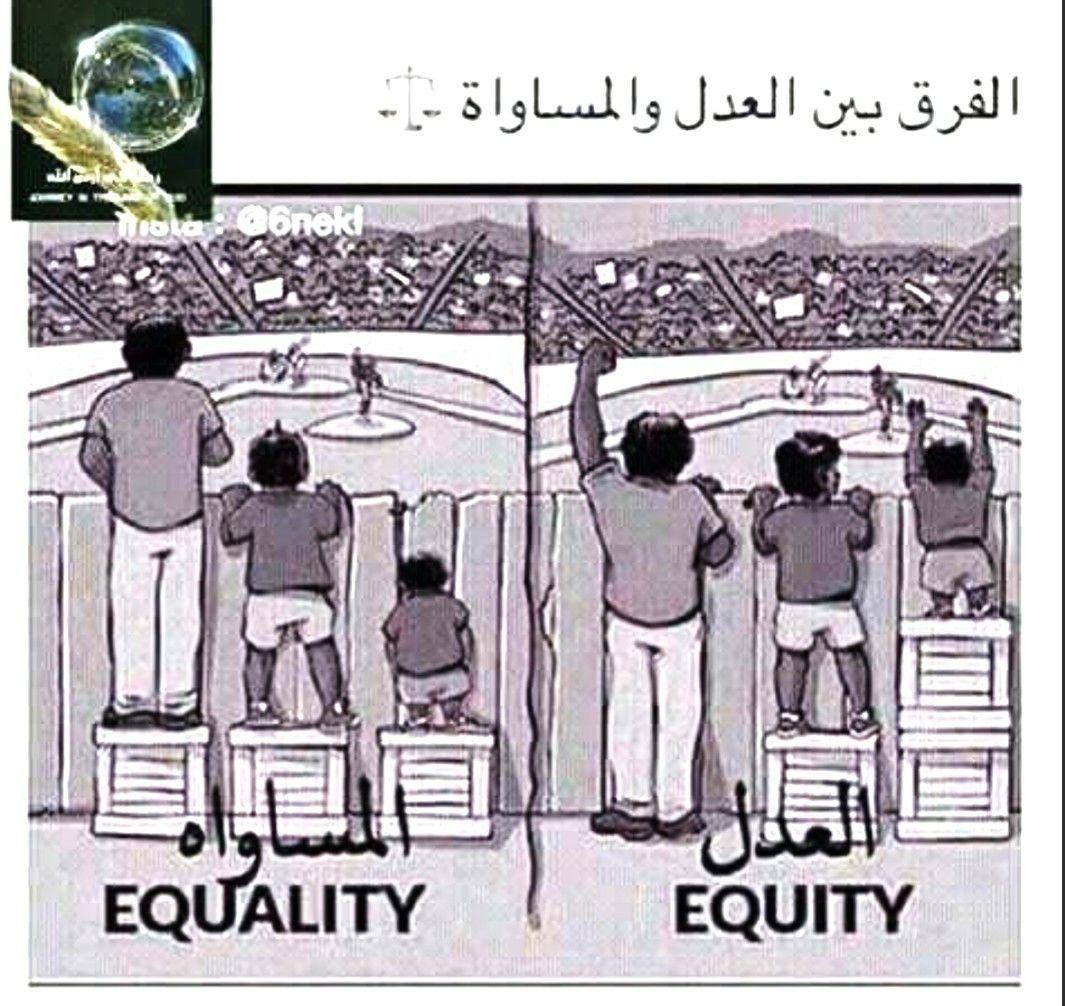 الفرق بين العدل و المساواه المساواة بين الجنسين الرجل والمرأة تحرير المرأة Poster Memes Ecard Meme