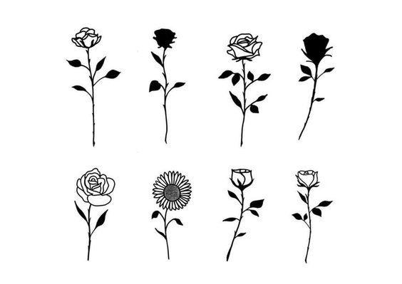Tattoo Rose Klein Vorlage Sanidermproteam