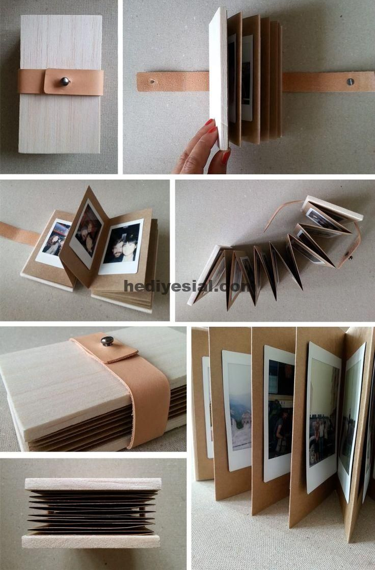 Photo of Homemade photo album with leather, #fotoalbum #leder #pre …