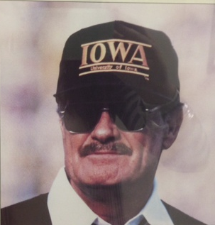 University of #Iowa -- Coach Hayden Fry wearing #TheGame triple bar #hat. #Hawkeyes #collegefootball http://thegameheadwear.com/