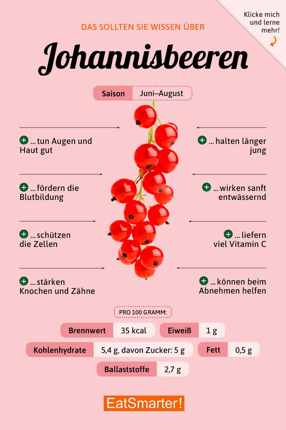 Das solltest du über Johannisbeeren wissen | eatsmarter.de #ernährung #infografik #johannisbeeren #health