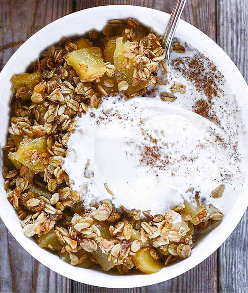 Healthy Apple Crisp (Gluten-Free & Vegan), Delicious