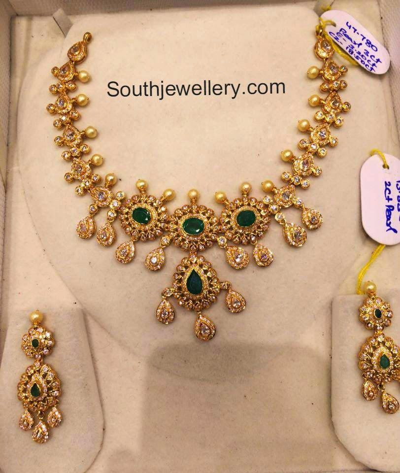 cz necklace models | Bijou | Pinterest | Models, Indian jewelry ...