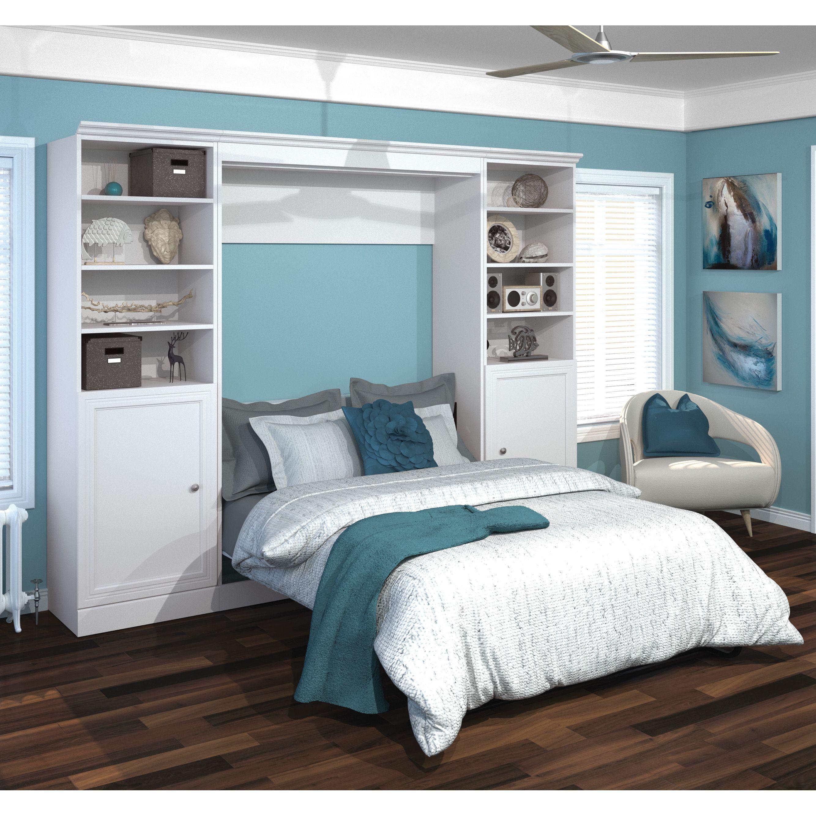 Versatile by Bestar 109inch Full Wall Bed Kit (White