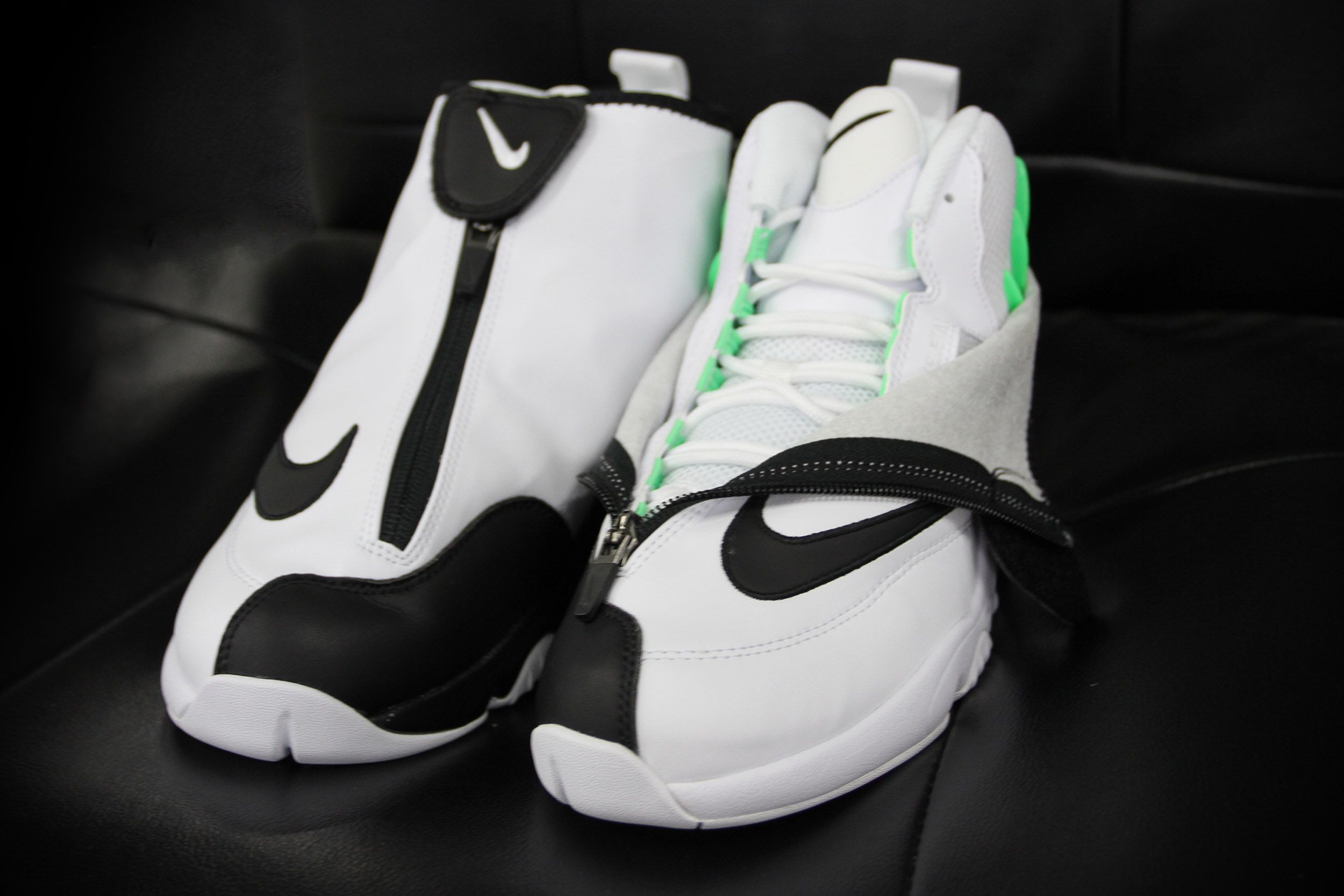 ad0397aa962b6 The Nike Zoom Flight The Glove in  White Black-Poison Green  drops Friday