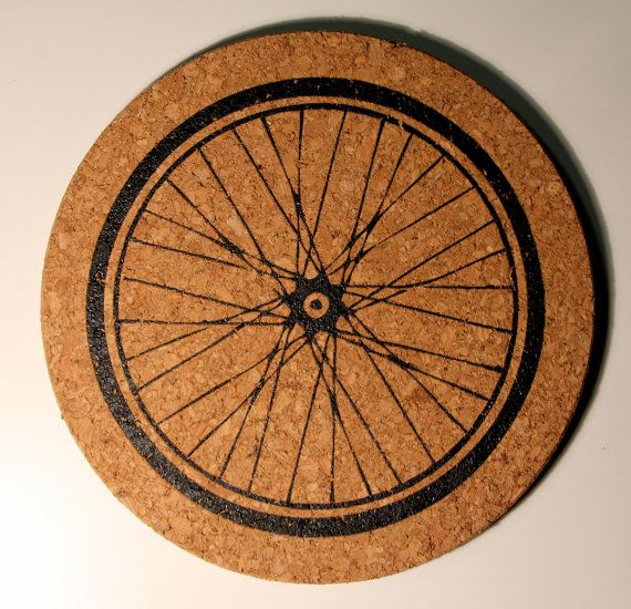 Bicycle Kitchen: Bicycle Wheel Cork Kitchen Trivet By Darkcycleclothing On