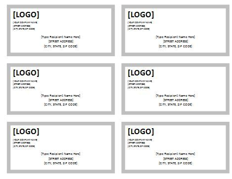 10+ Shipping Label Templates Free Printable Word  PDF Formats