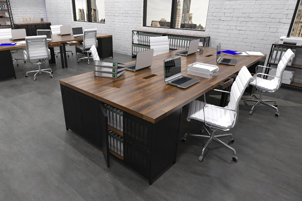 Rustic Modern Office Pin By Iron Age Office On Commercial Workspace