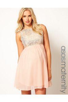 485b0b6394121 Women's Gray Sequin and Chiffon Skater Dress | Pregnancy& Baby Bliss ...