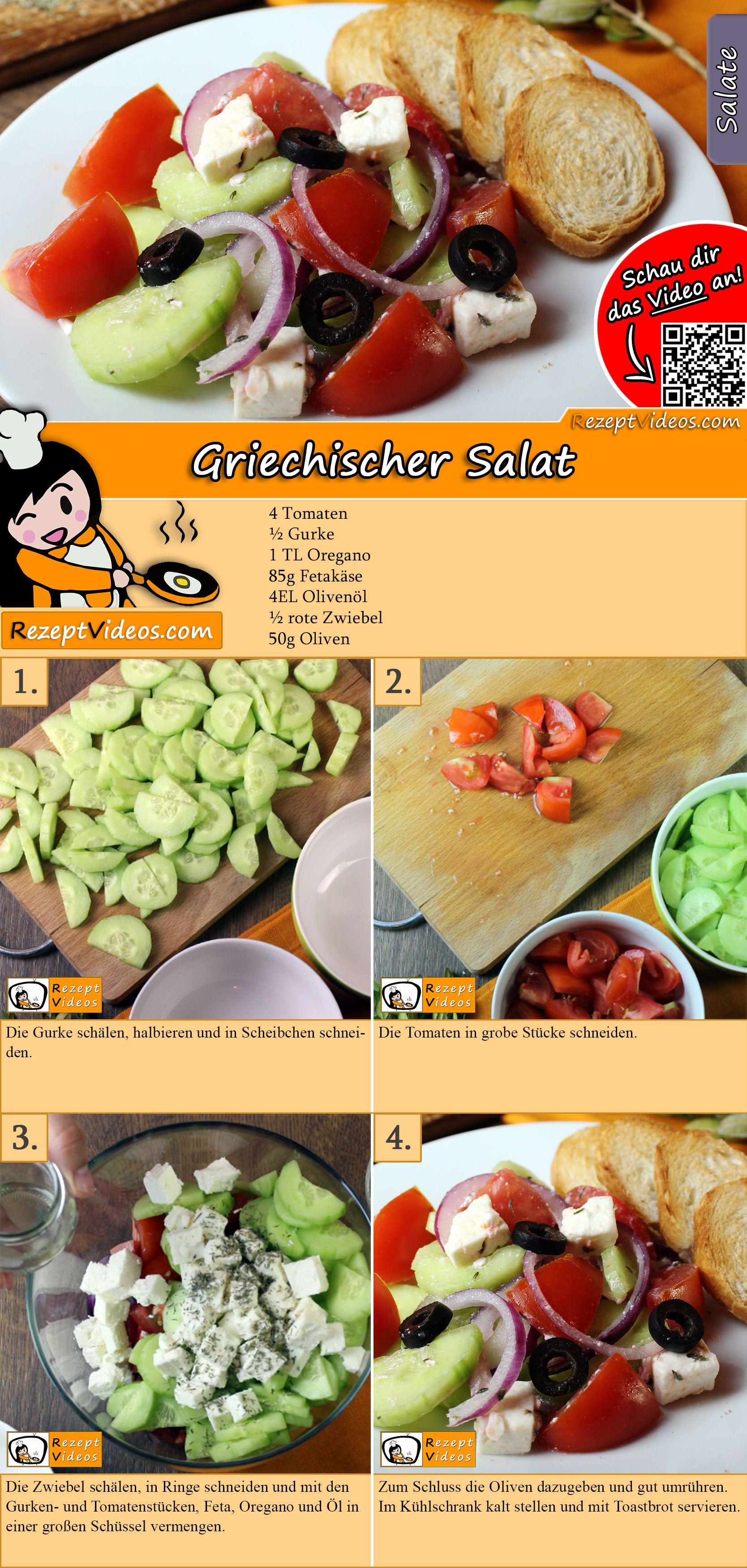 Griechischer Salat Rezept mit Video - Salat Rezepte