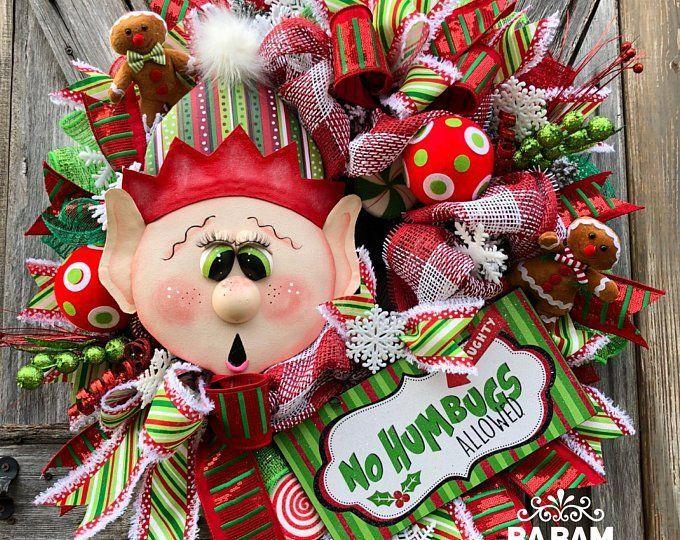 Elf Wreath, Elf Decor, Candyland Wreath, Candyland Decor, Christmas Wreath, Elf Christmas Wreath, Winter Wreath #candylanddecorations Elf Wreath Elf Decor Candyland Wreath Candyland Decor | Etsy #candylanddecorations