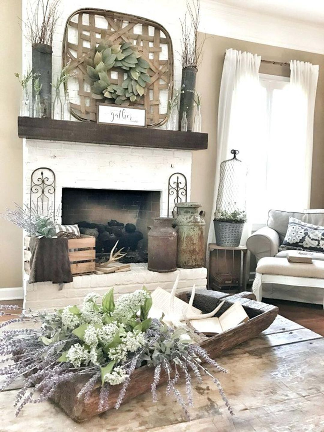 Photo of 30 Gorgeous Farmhouse Fireplace Mantel Design and Decor For Cozy Winter – DEXORATE