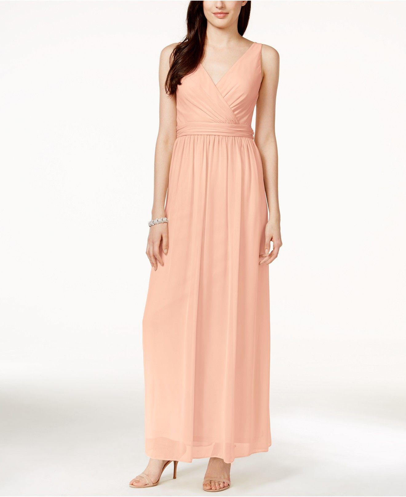 Adrianna By Adrianna Papell Chiffon Draped Sleeveless Gown - Shop ...