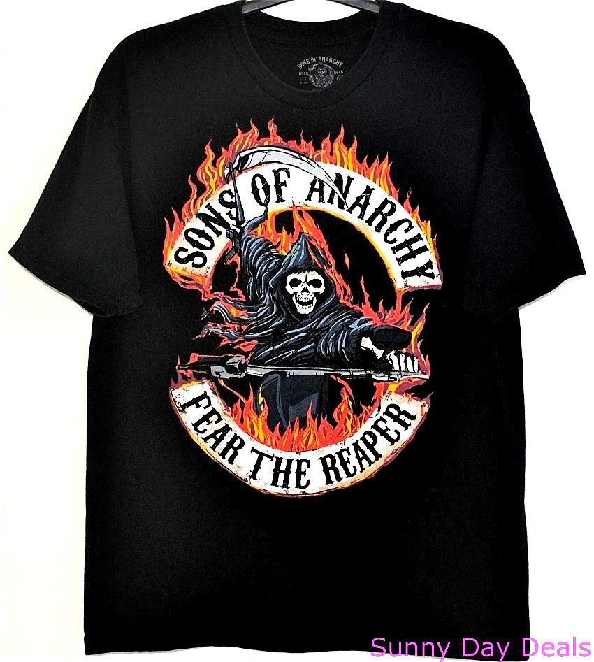 Sons Of Anarchy Shirt Fear The Reaper Cotton Black Tee Short Sleeve T Shirt Xl Sonsofanarchy Graphictee Anarchy Shirts Shirts Cool T Shirts