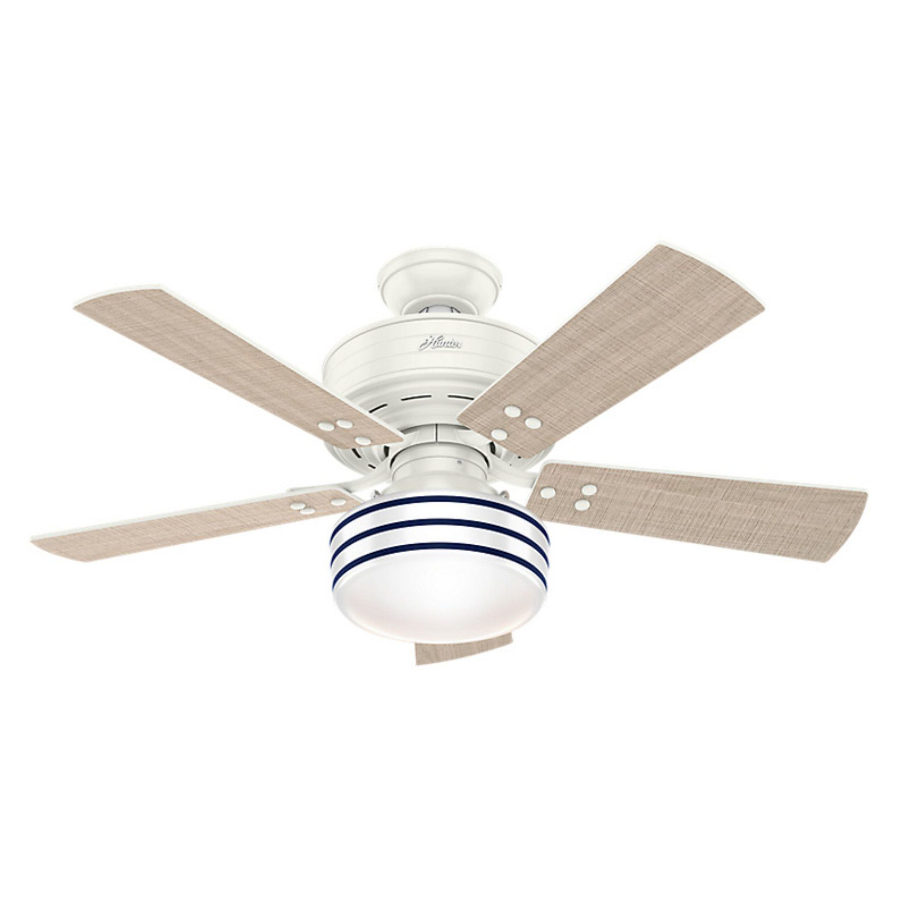 Hunter Cedar Key 44 In Outdoor Ceiling Fan With Light And Remote