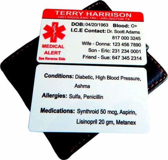 medication wallet card template awesome custom medical