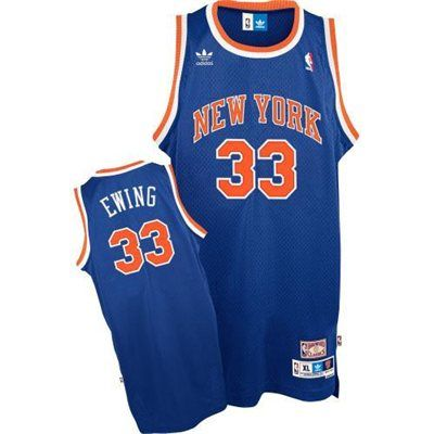 on sale ad351 d1630 adidas New York Knicks #33 Patrick Ewing Royal Blue Swingman ...
