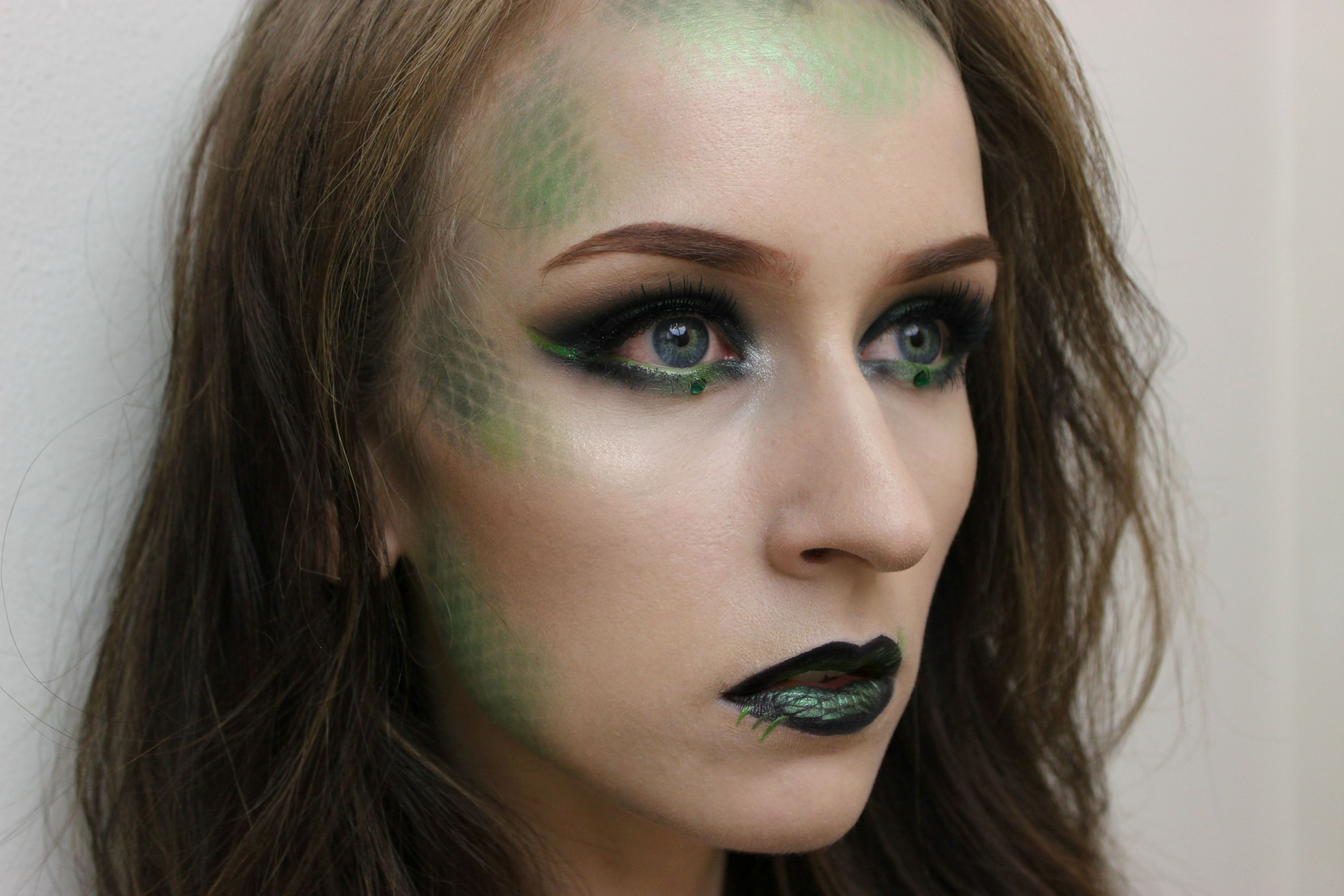The eye and lip makeup is not neccesary. The scales are pretty good!