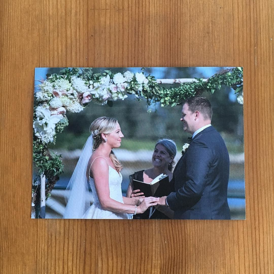 When one of your favorite #weddingphotographers sends you a Valentine's Day card of you officiating a wedding! Thank you @breamcdonaldphotography! #weddingofficiant