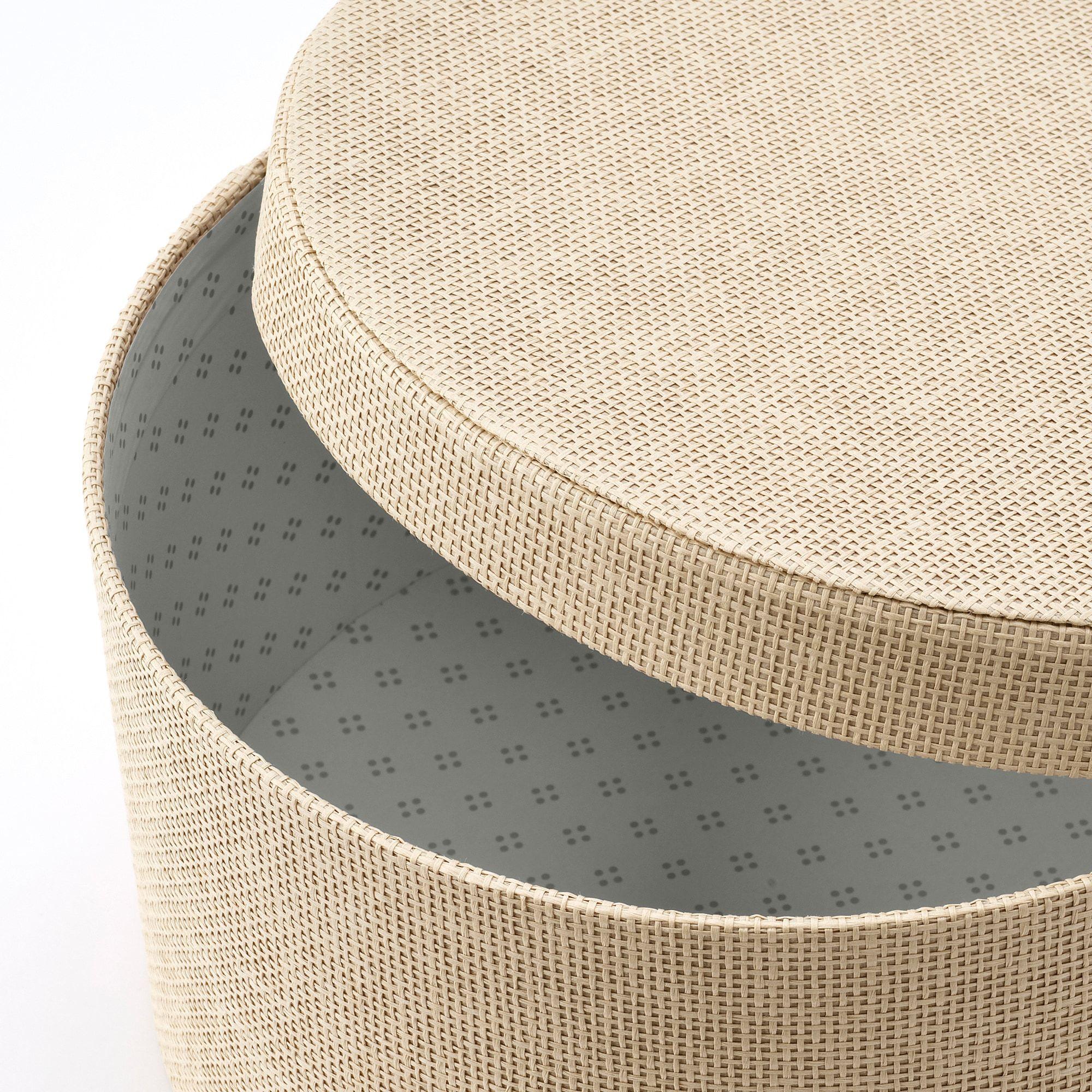 Kvarnvik Storage Box Set Of 3 Beige Ikea In 2021 How To Store Scarves Vintage Hat Boxes Hat Boxes