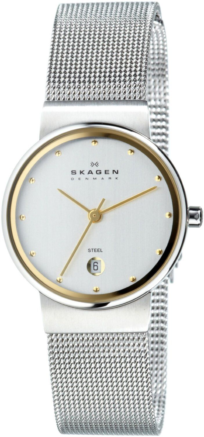 watches skagen fossil com steel metal mesh slim signatur