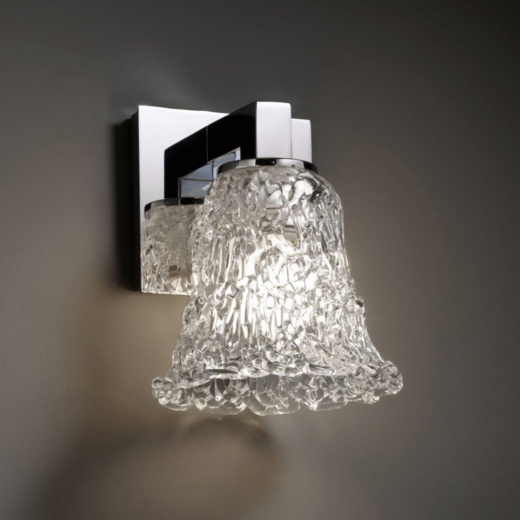 Justice design group gla modular light wall sconce round