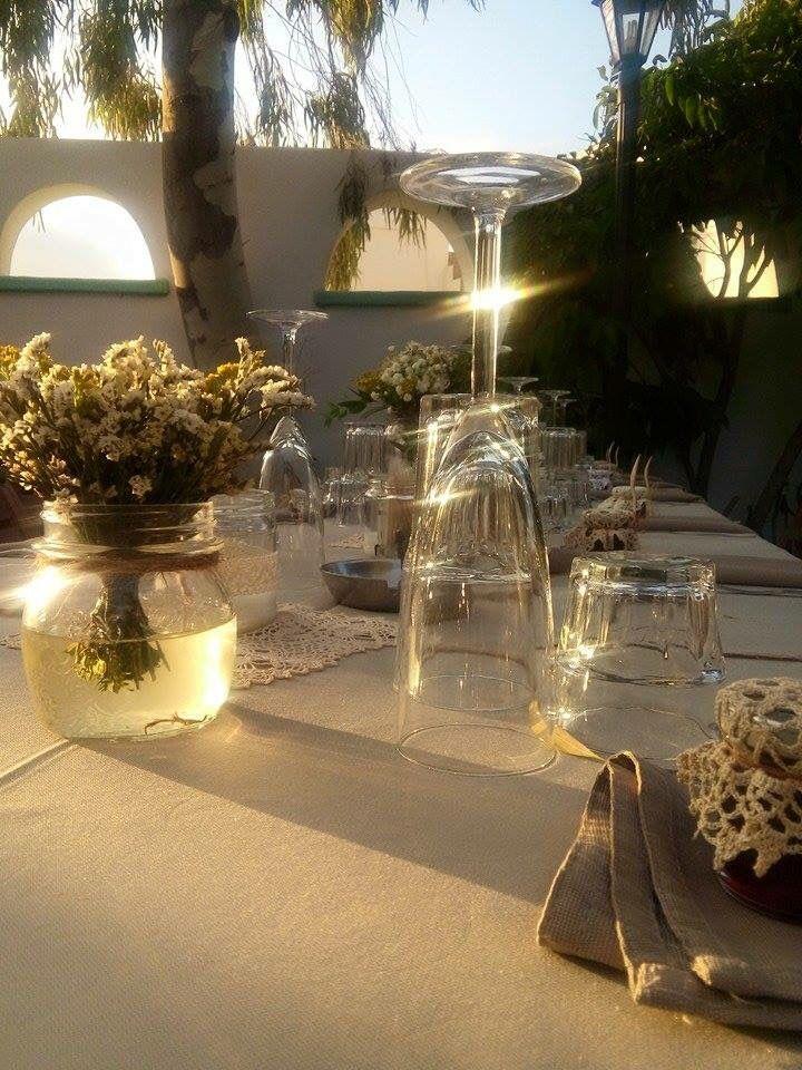 Table Decoration #Folegandros #Chora #Zefiros #Anemos #seafood #restaurant  #wedding