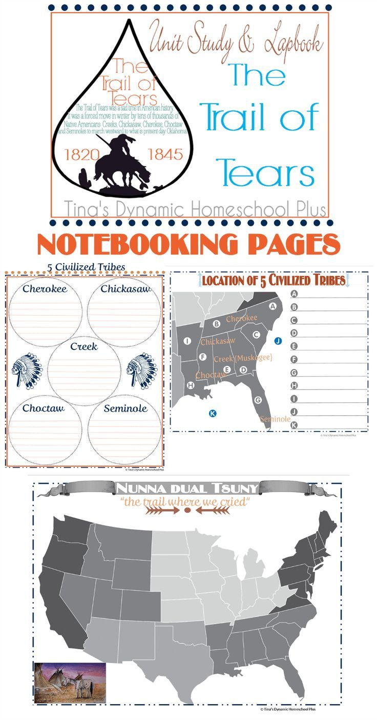 Trail Of Tears Notebooking Pages History Lesson Plans Trail Of Tears Homeschool Social Studies