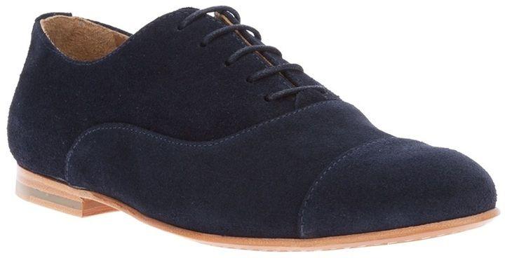 Schuhe blau wildleder