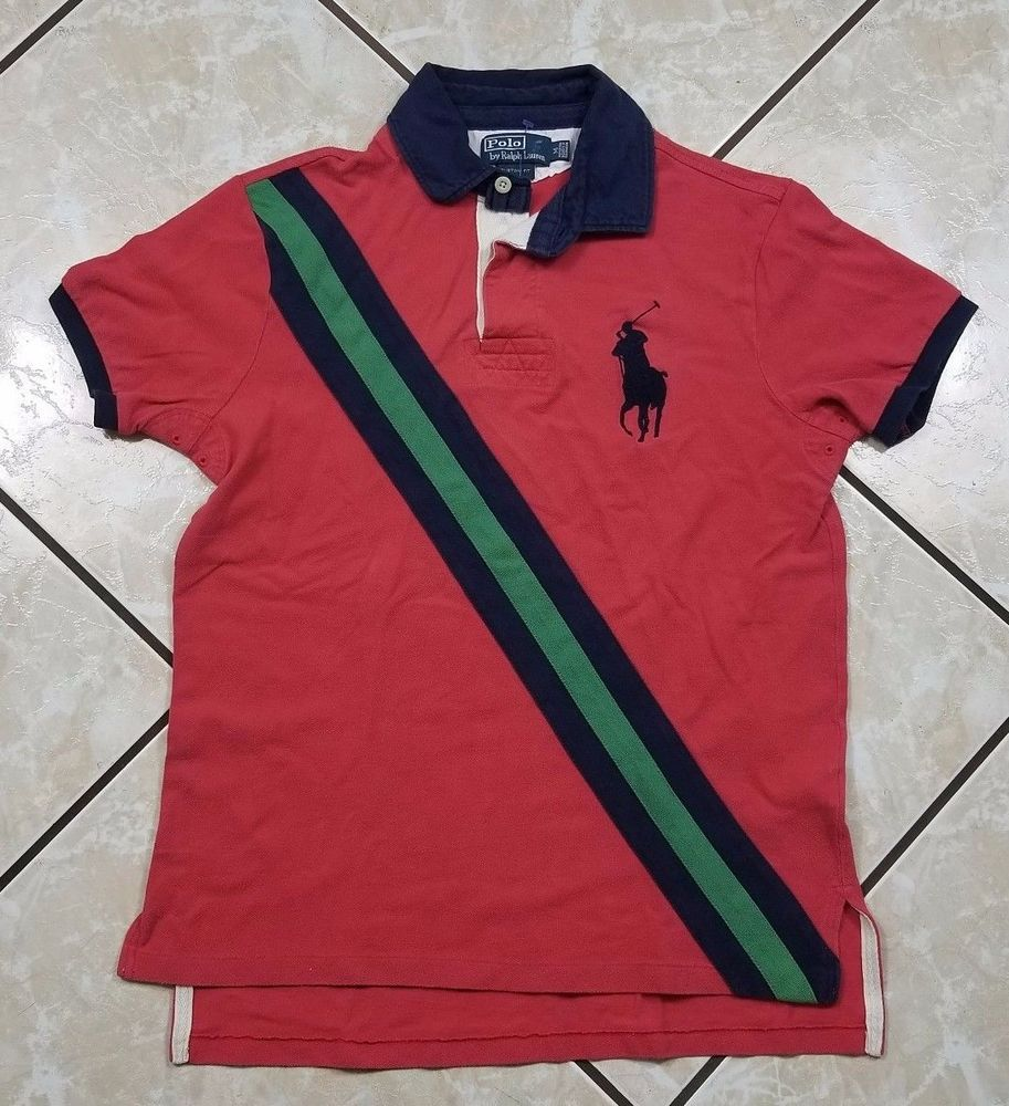 98d596ac5 ... denmark ralph lauren polo shirt adult medium challenge cup big pony  pink striped mens ralphlauren 268c7