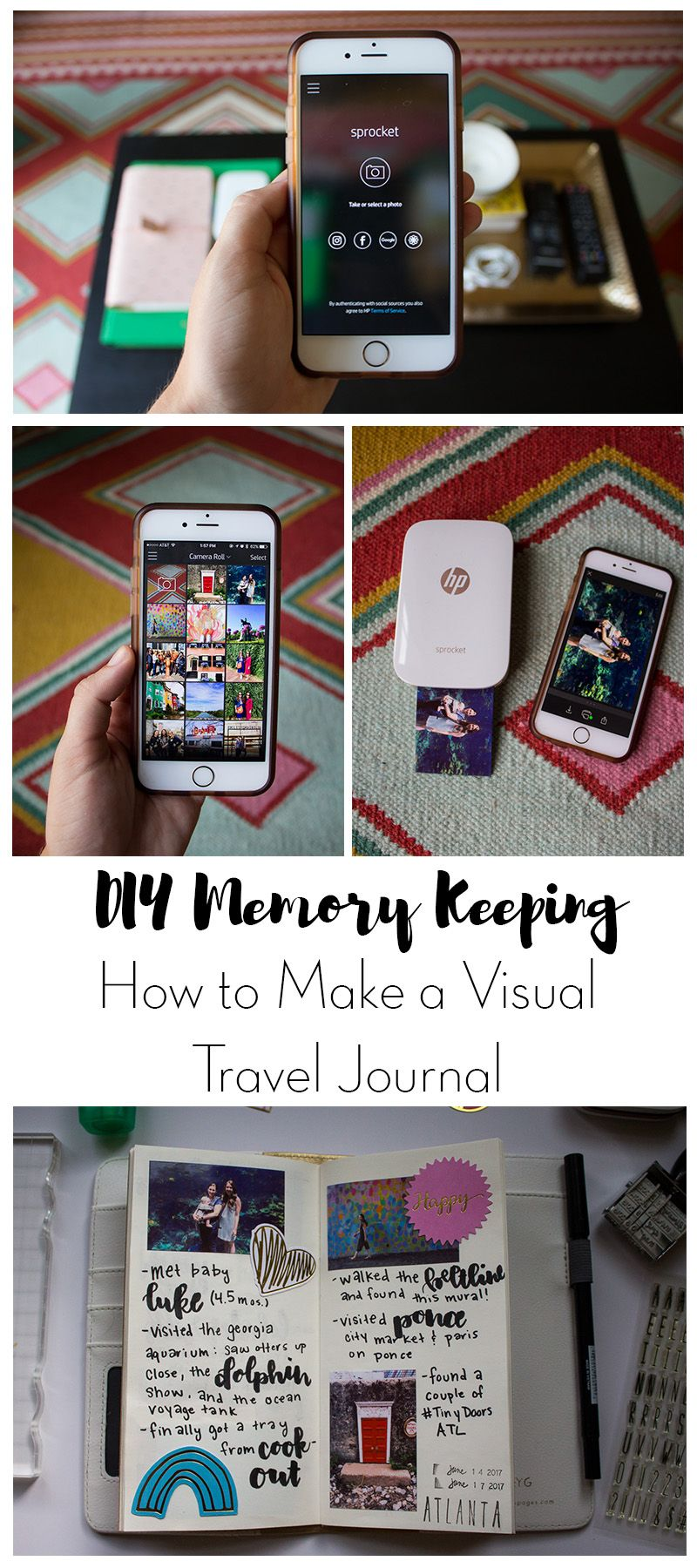 memory keeping with the hp sprocket | crafts & diy projects | pinterest