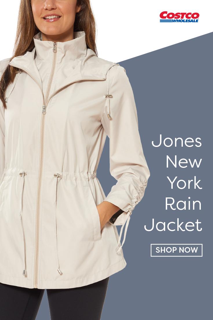 Jones New York Ladies Packable Rain Jacket Packable Rain Jacket Womens Spring Jackets Jackets [ 1102 x 735 Pixel ]