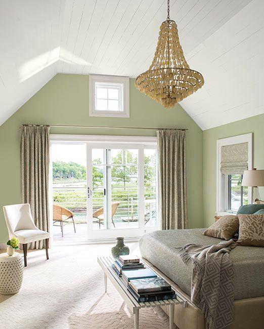 Green Paint Ideas | Light green bedrooms, Light green ...