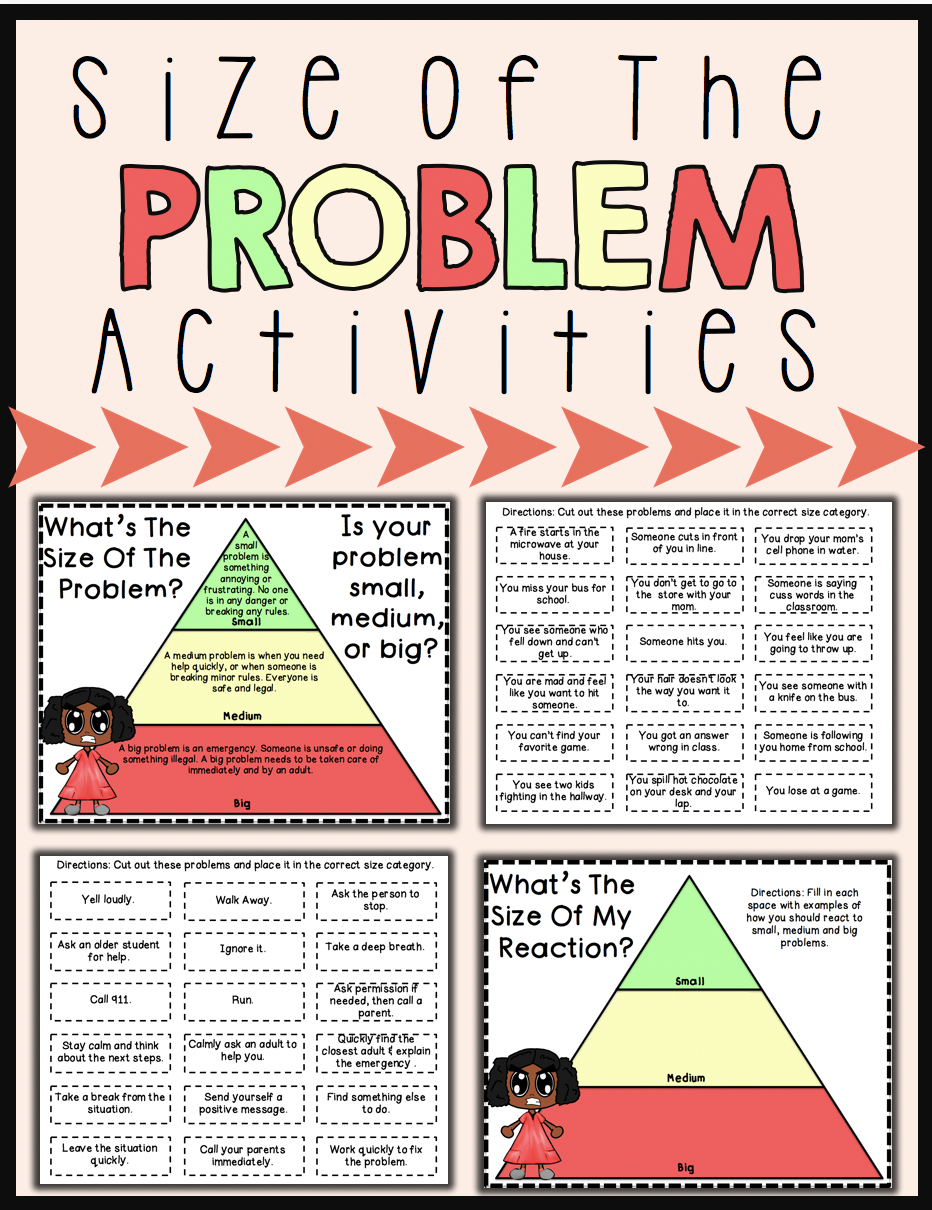 It's just a picture of Monster How Big is My Problem Printable