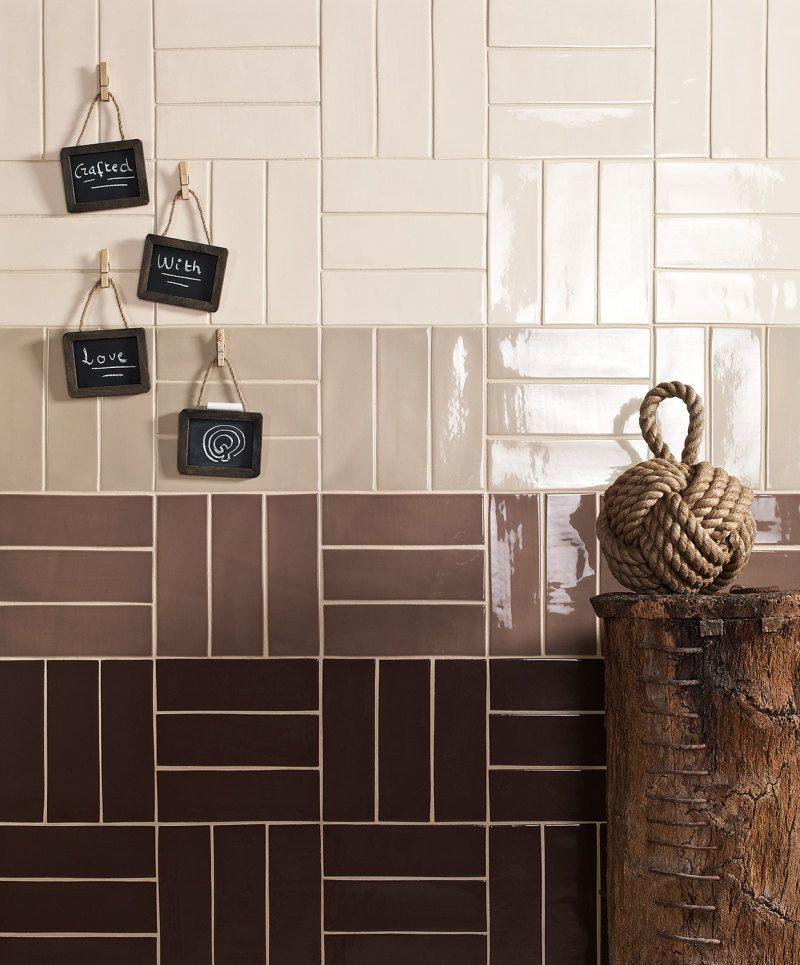 Good Tile Lay For Single Colour Subways Brown Tile Bathroom