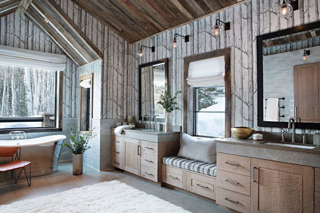Hello Lovely Inspiration For Interiors Rustic Bathrooms